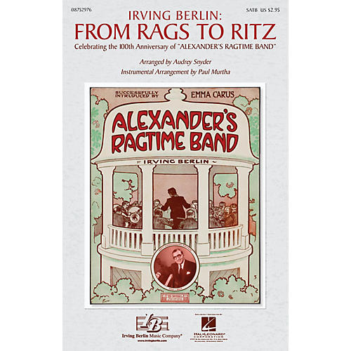 Hal Leonard Irving Berlin: From Rags to Ritz (Medley) ShowTrax CD Arranged by Paul Murtha