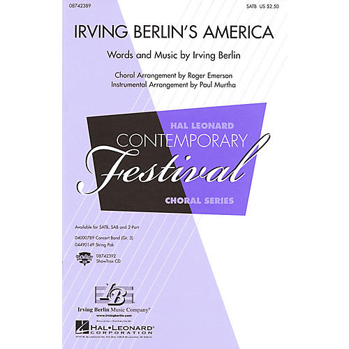 Hal Leonard Irving Berlin's America (Medley) SATB arranged by Roger Emerson
