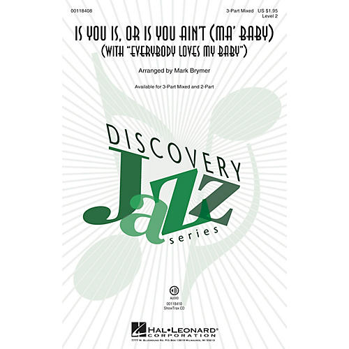 Hal Leonard Is You Is or Is You Ain't (Ma' Baby) 2-Part Arranged by Mark Brymer