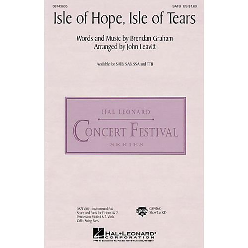 Hal Leonard Isle of Hope, Isle of Tears SSA by The Irish Tenors Arranged by John Leavitt