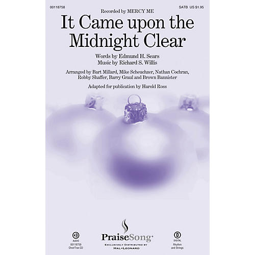 PraiseSong It Came upon a Midnight Clear CHOIRTRAX CD by Mercy Me Arranged by Harold Ross
