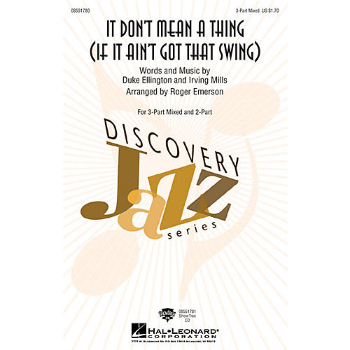 Hal Leonard It Don't Mean a Thing 3-Part Mixed arranged by Roger Emerson