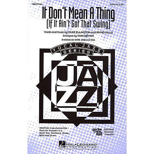 Hal Leonard It Don't Mean a Thing SATB arranged by Mark Brymer