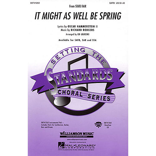 Hal Leonard It Might as Well Be Spring (from State Fair) ShowTrax CD Arranged by Ed Lojeski