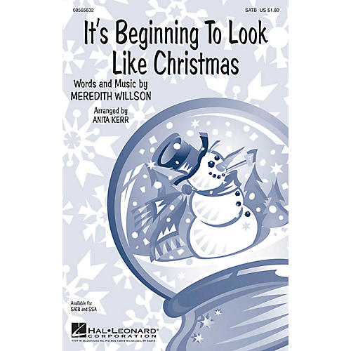 Hal Leonard It's Beginning to Look Like Christmas SSA Arranged by Anita Kerr