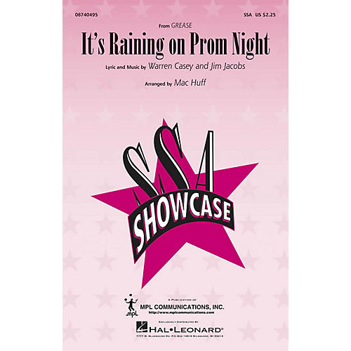 Hal Leonard It's Raining on Prom Night (from Grease) SSA arranged by Mac Huff