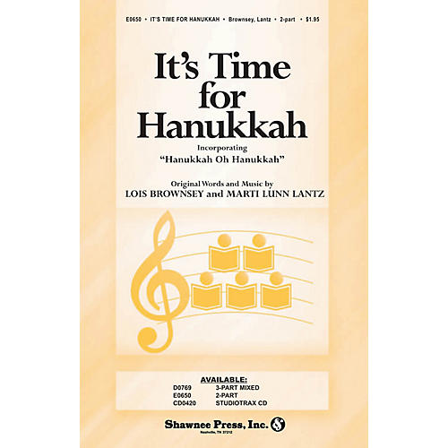 Shawnee Press It's Time for Hanukkah 2-Part composed by Marti Lunn Lantz