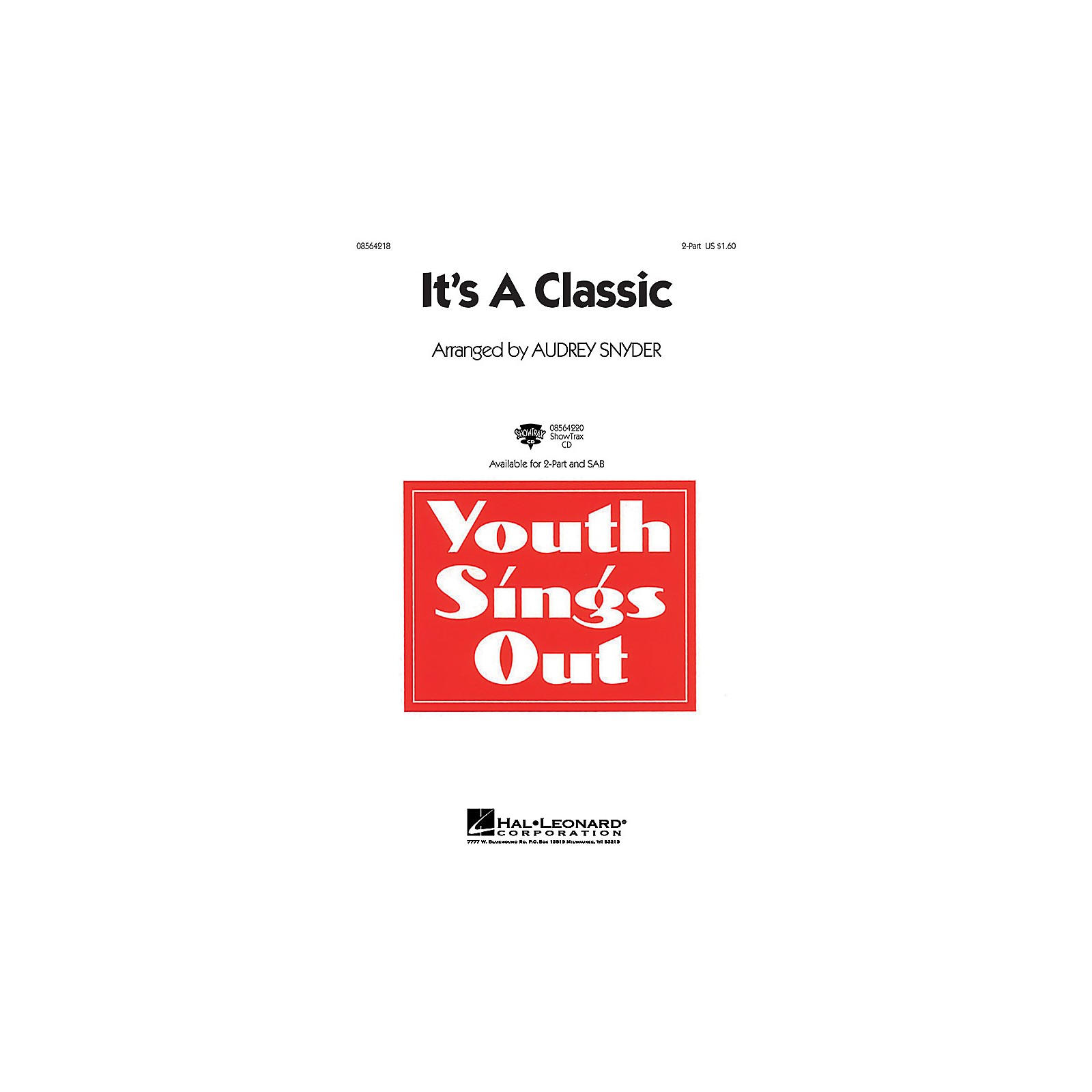Hal Leonard It's a Classic 2-Part arranged by Audrey Snyder