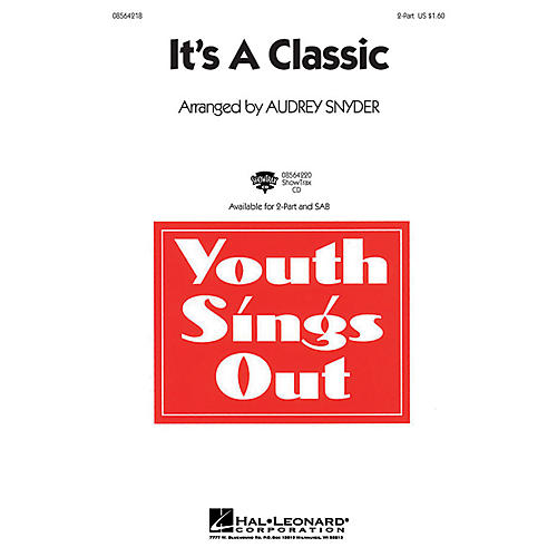 Hal Leonard It's a Classic ShowTrax CD Arranged by Audrey Snyder