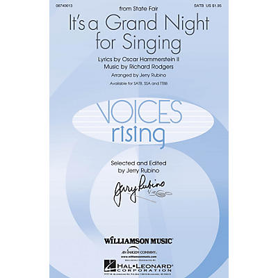 Williamson Music It's a Grand Night for Singing (from State Fair) TTBB Arranged by Jerry Rubino
