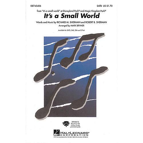 Hal Leonard It's a Small World 2-Part Arranged by Mark Brymer
