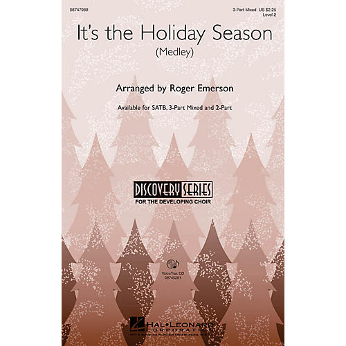 Hal Leonard It's the Holiday Season 3-Part Mixed arranged by Roger Emerson