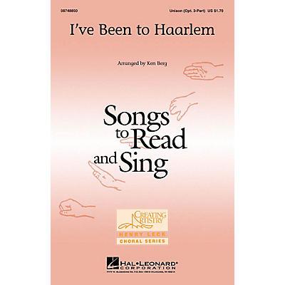 Hal Leonard I've Been to Haarlem Unison or optional 3-Part arranged by Ken Berg