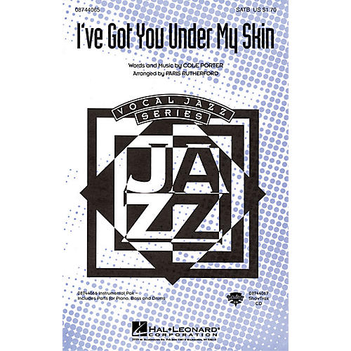 Hal Leonard I've Got You Under My Skin ShowTrax CD Arranged by Paris Rutherford