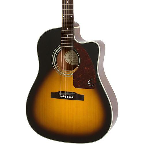 Epiphone J-15 EC Deluxe Acoustic-Electric Guitar Vintage Sunburst