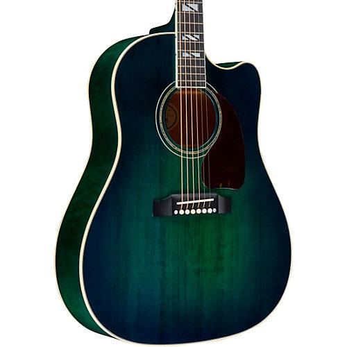 gibson j 45 chroma acoustic electric guitar teal burst musician 39 s friend. Black Bedroom Furniture Sets. Home Design Ideas
