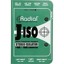 Radial Engineering J-ISO Jensen Transformer Equipped Stereo Isolator +4dB to -10dB Converter