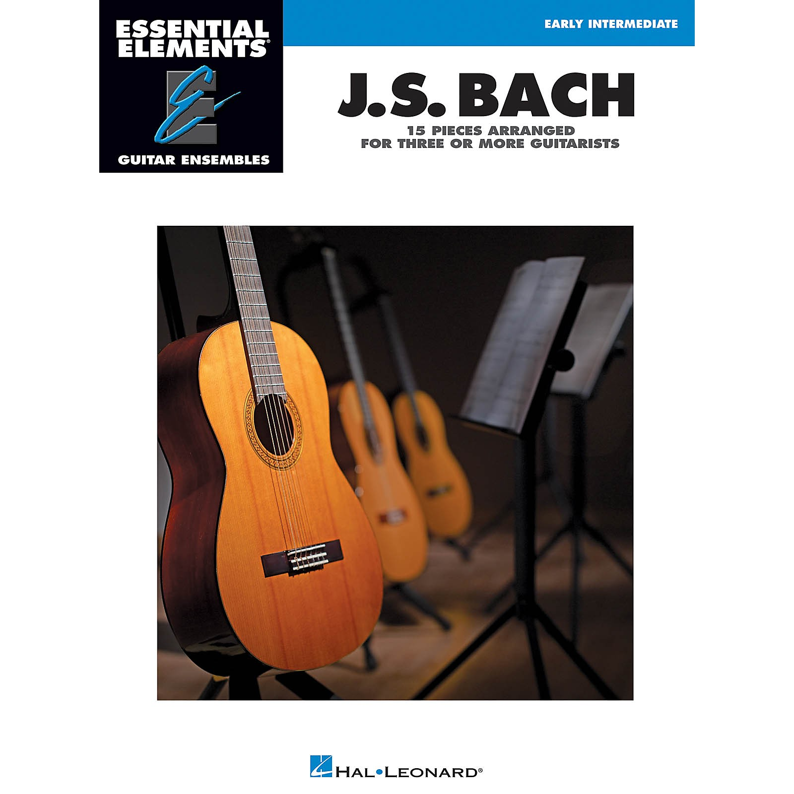 Hal Leonard J.S. Bach - 15 Pieces Arranged for Three or More Guitarists Essential Elements Guitar Series Softcover