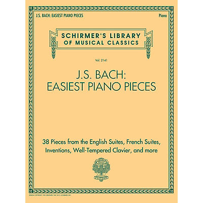 G. Schirmer J.S. Bach: Easiest Piano Pieces - Schirmer's Library of Musical Classics, Vol. 2141