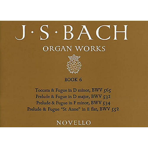 Music Sales J.S. Bach: Organ Works Book 6 Music Sales America Series