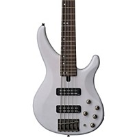 Yamaha Trbx505 5-String Premium Electric Bass Transparent White Rosewood Fretboard