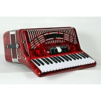 Used Hohner 72 Bass Entry Level Piano Accordion Red 888365940700