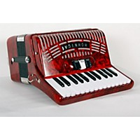Used Hohner 48 Bass Entry Level Piano Accordion Red 888365851983