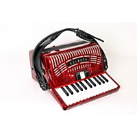 Used Hohner 48 Bass Entry Level Piano Accordion Red 888365902661