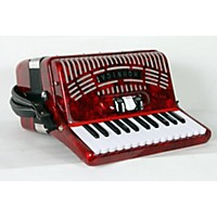 Used Hohner 48 Bass Entry Level Piano Accordion Red 888365926629