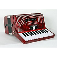 Used Hohner 48 Bass Entry Level Piano Accordion Red 888365913575