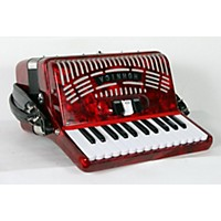 Used Hohner 48 Bass Entry Level Piano Accordion Red 888365913605