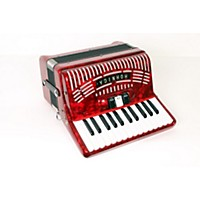 Used Hohner 48 Bass Entry Level Piano Accordion Red 888365935614