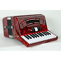 Used Hohner 48 Bass Entry Level Piano Accordion Red 888365955841