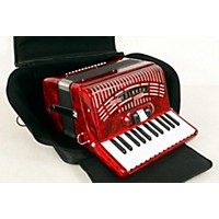 Used Hohner 48 Bass Entry Level Piano Accordion Red 190839017277