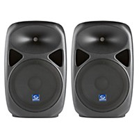 Gem Sound Pxb120usb 12 Powered Speakers Pair With Usb/Sd Media Player