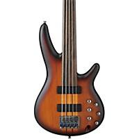 Ibanez Srf705 Portamento 5-String Fretless Electric Bass Flat Brown Burst Rosewood Fretboard