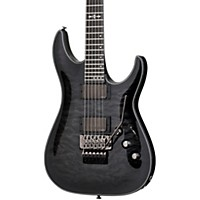 Schecter Guitar Research Hellraiser Hybrid C-1 Electric Guitar With Floyd Rose Transparent Black Burst