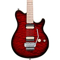 Sterling By Music Man Ax40d Electric Guitar Ruby Red Burst