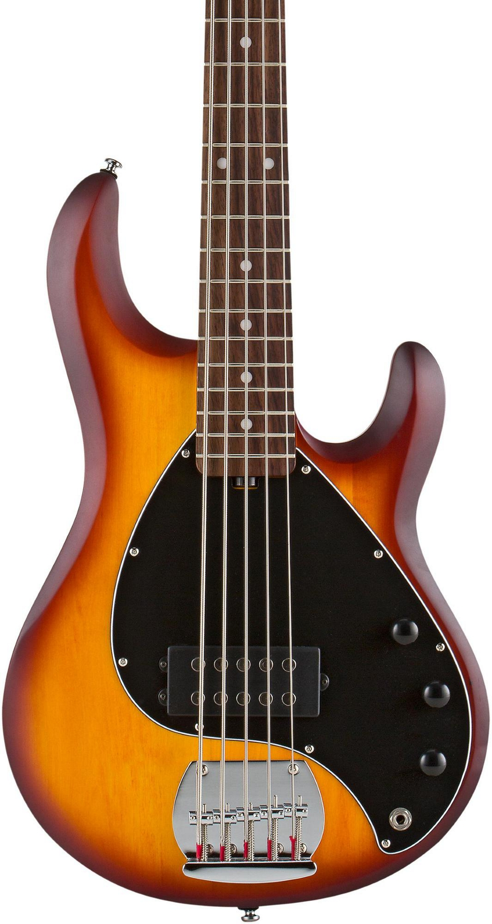 sterling by music man ray5 5 string electric bass guitar honey burst satin ebay. Black Bedroom Furniture Sets. Home Design Ideas