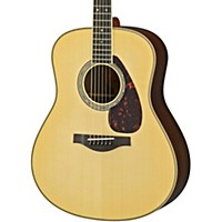 Yamaha Ll16r L Series Solid Rosewood/Spruce Dreadnought Acoustic-Electric Guitar Natural