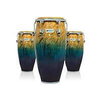 Lp Performer Series 3-Piece Conga Set With Chrome Hardware Blue Fade
