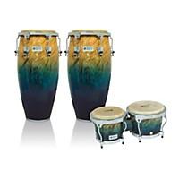 Lp Performer Series 2-Piece Conga And Bongo Set With Chrome Hardware Blue Fade