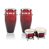 Lp Performer Series 2-Piece Conga And Bongo Set With Chrome Hardware Red Fade