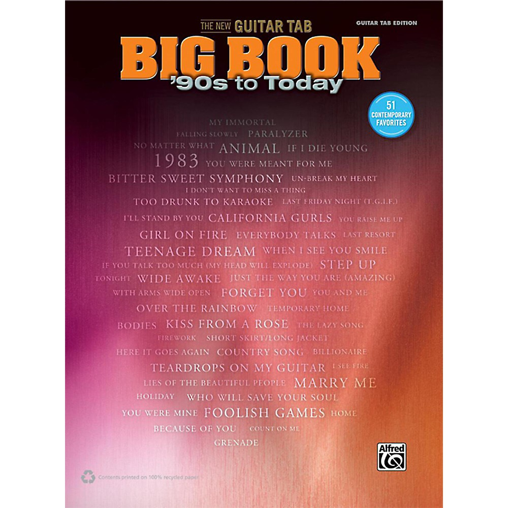 Alfred The New Guitar Tab Big Book '90S To Today