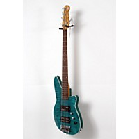 Used Reverend Mercalli 5 Fm 5-String Electric Bass Guitar Turquoise Flame Maple 190839048691
