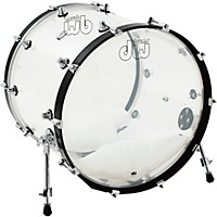 Dw Design Series Acrylic Bass Drum With Chrome Hardware 22 X 18 In. Clear