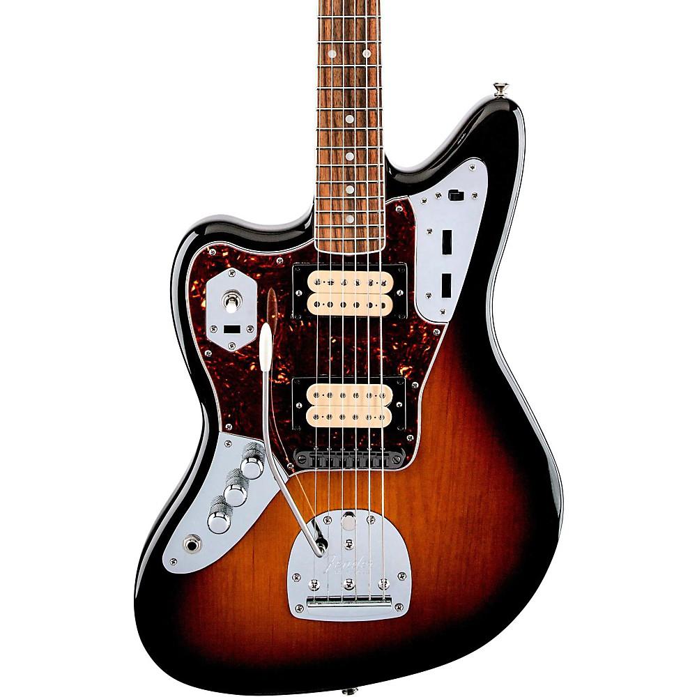 fender kurt cobain jaguar nos left handed electric guitar 3 color sunburst rw fb ebay. Black Bedroom Furniture Sets. Home Design Ideas