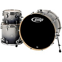 Pdp Concept Maple 3-Piece Shell Pack With 24 Bass Drum Silver To Black Fade