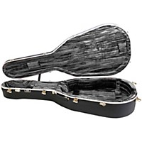 Hiscox Cases Liteflite Artist Acoustic Guitar Case - Black Shell/Silver Interior