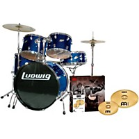 Ludwig Accent Combo 5-Piece Drum Set With Meinl Cymbals Blue